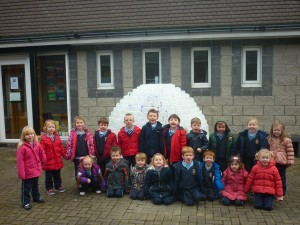 Ms. Murray's Junior infants were very excited to see the finished igloo!