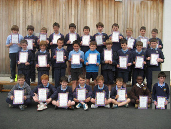 MilfordNS_Boys'_Athletics_Team_2012