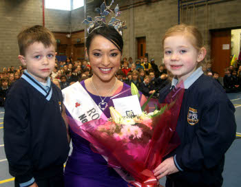 Rose of Tralee visit to Milford National school 2