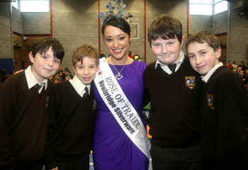 Rose of Tralee visit to Milford National school 3