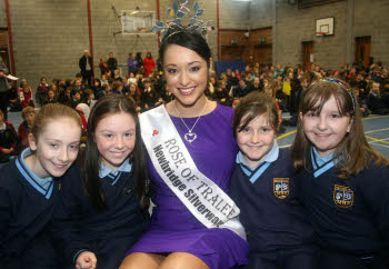 Rose of Tralee visit to Milford National school 4